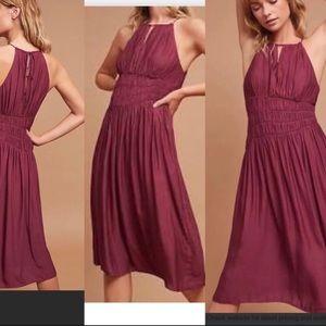 Anthropologie plum dress